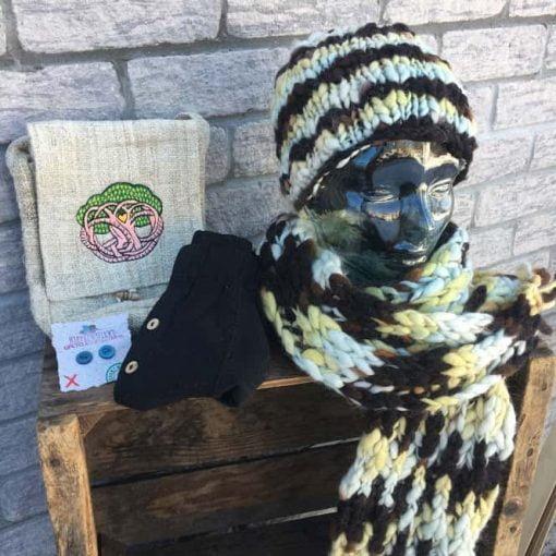 organic wool scarf set fair trade