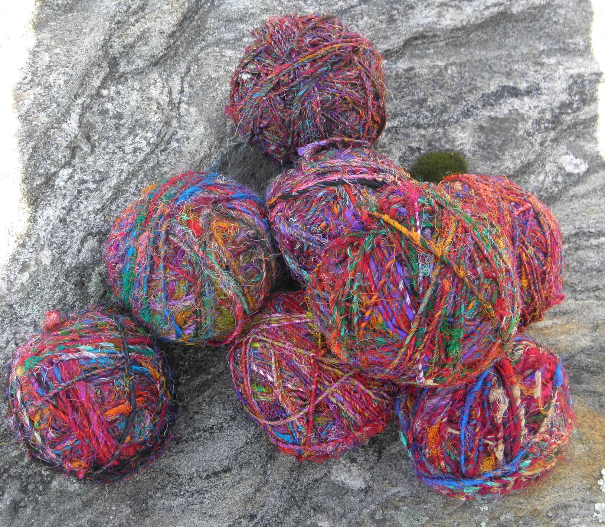 recycled silk yarn ball