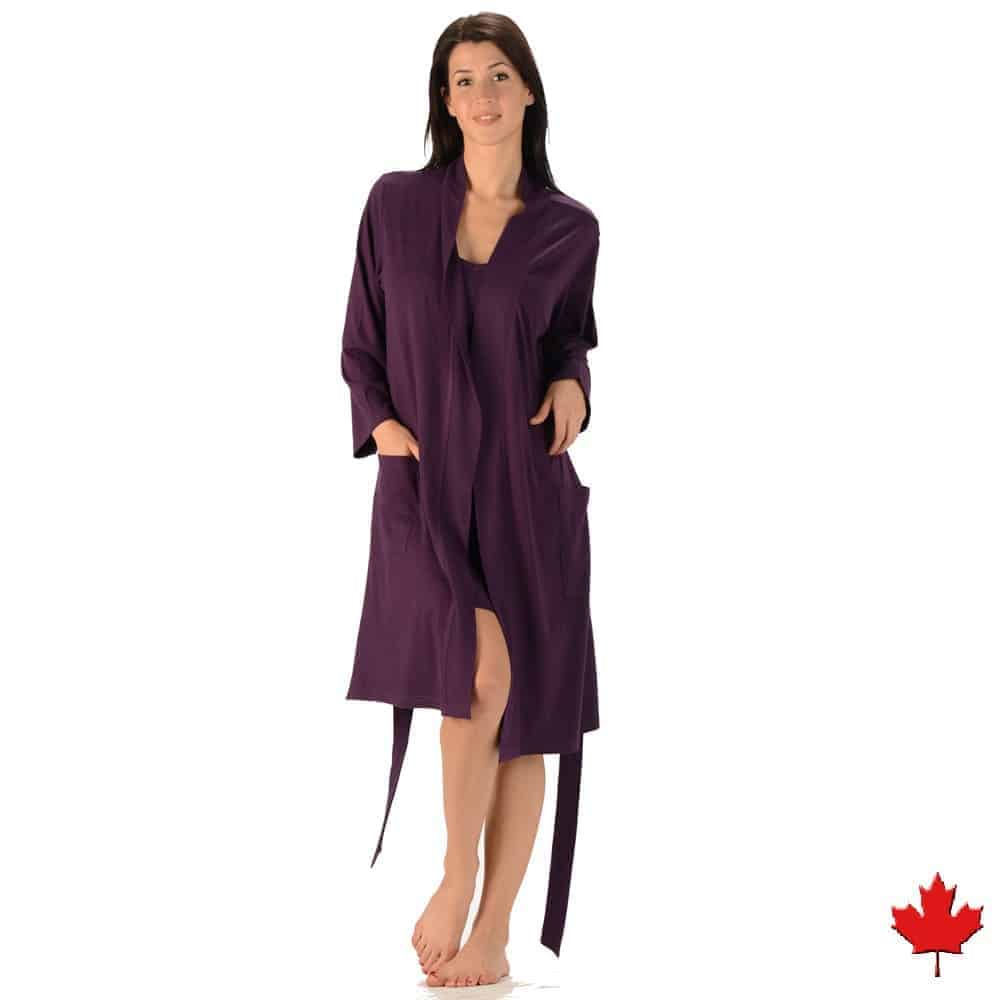 Women S Organic Cotton And Bamboo Robe Made In Canada