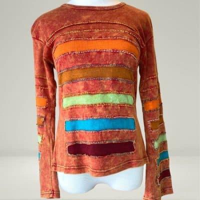 fair trade rainbow shirt