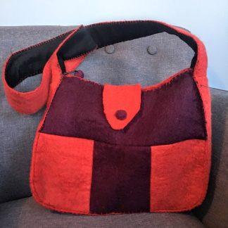 fair trade felt purse