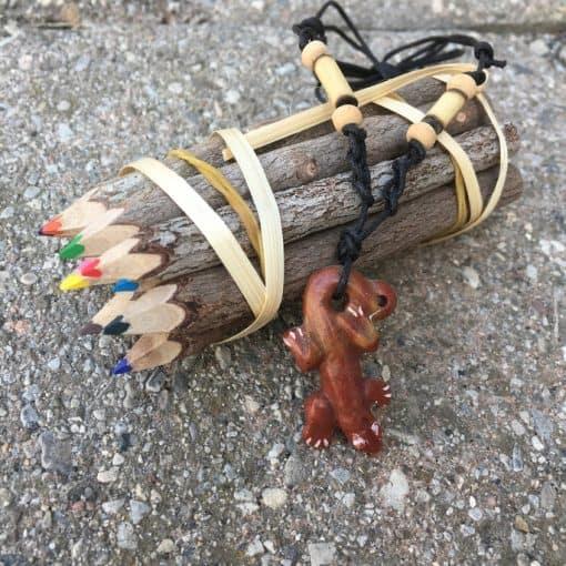 fair trade necklace - marble geko