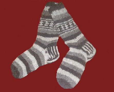 Fair Trade Himalayan 100% Wool Socks, Various colours