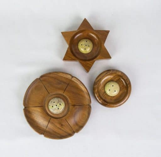 wood incense holder fair trade