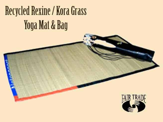 Recycled Yoga Mat Bag Made From Billboards Kora Grass