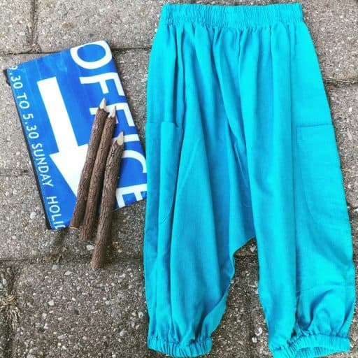 Baby blue kids harem pants