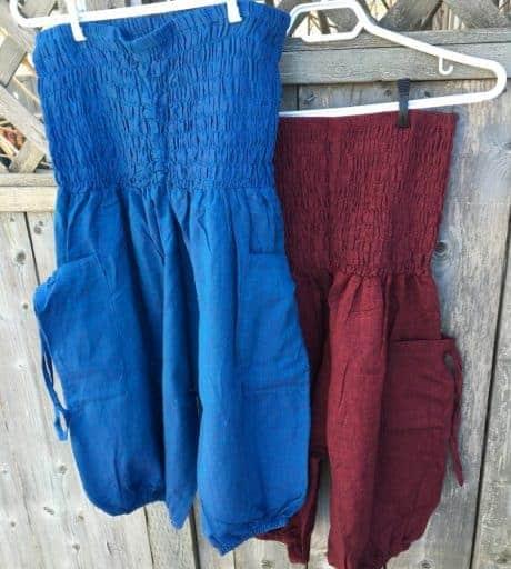 capri harem pants colours