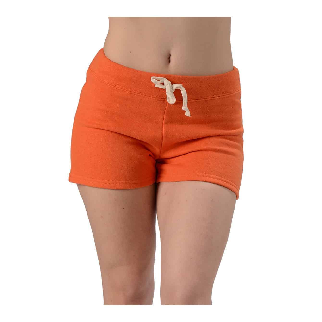 orange hemp shorts