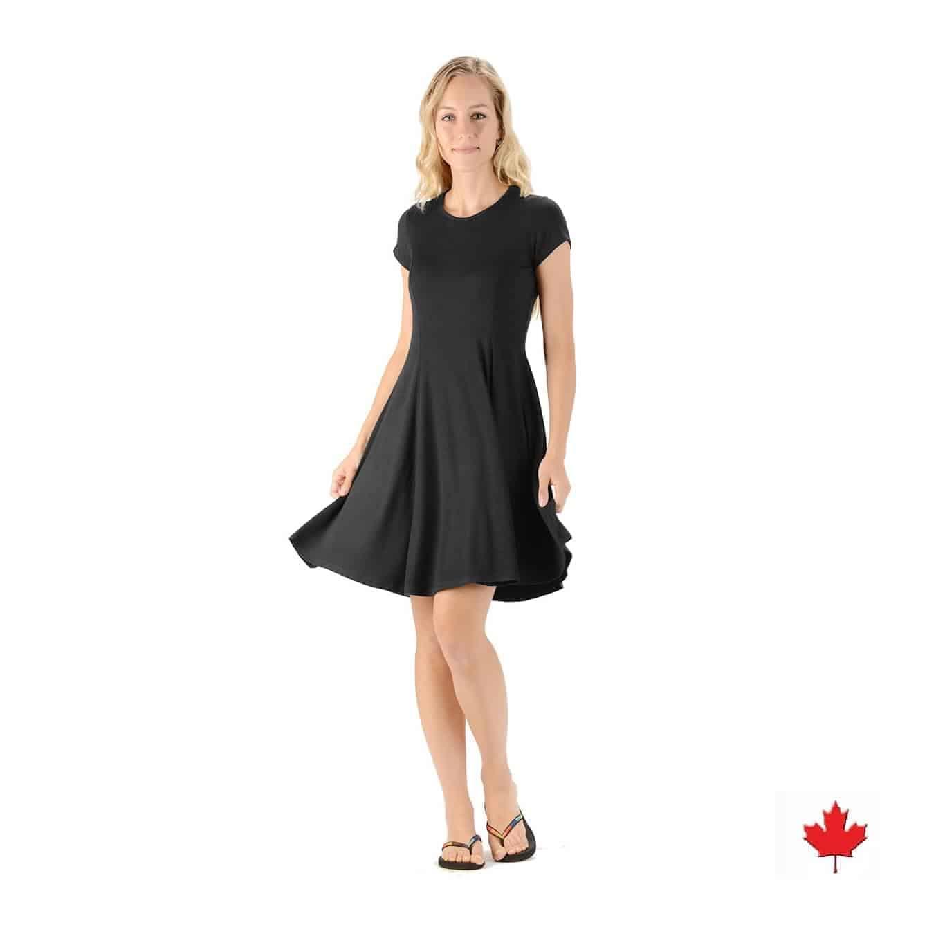 Women S Bamboo Swing Dress Made In Canada Tree Chic