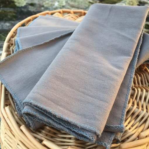 Grey Bamboo Facecloths Set