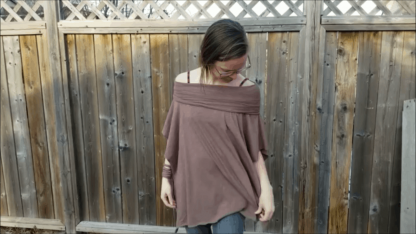 off the shoulder bamboo and organic top