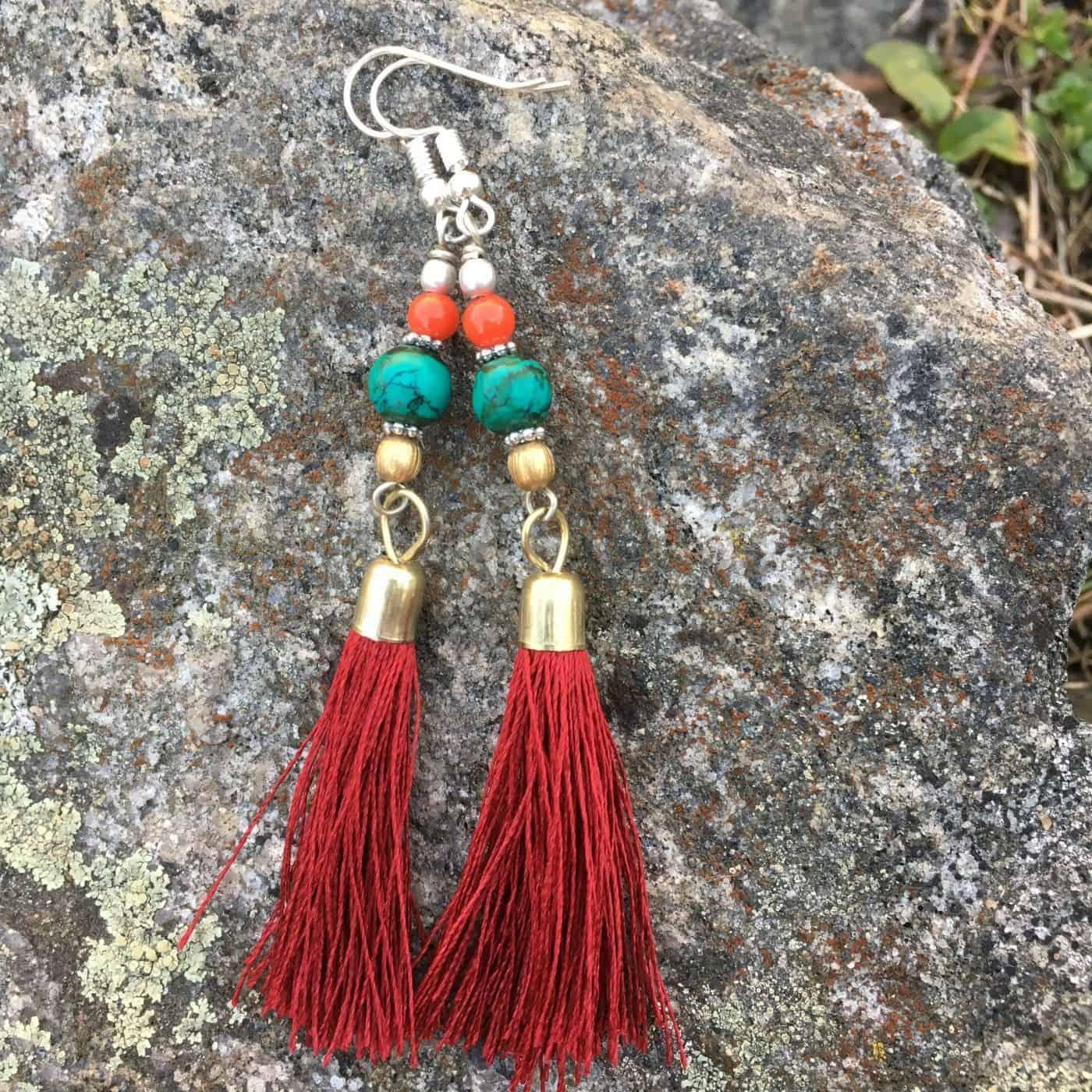 Fair Trade tassel earrings