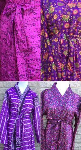 sari silk robe designs
