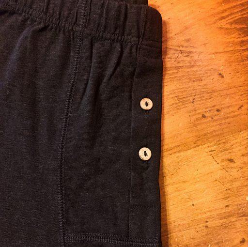 Natural underwear details on hemp organic cotton