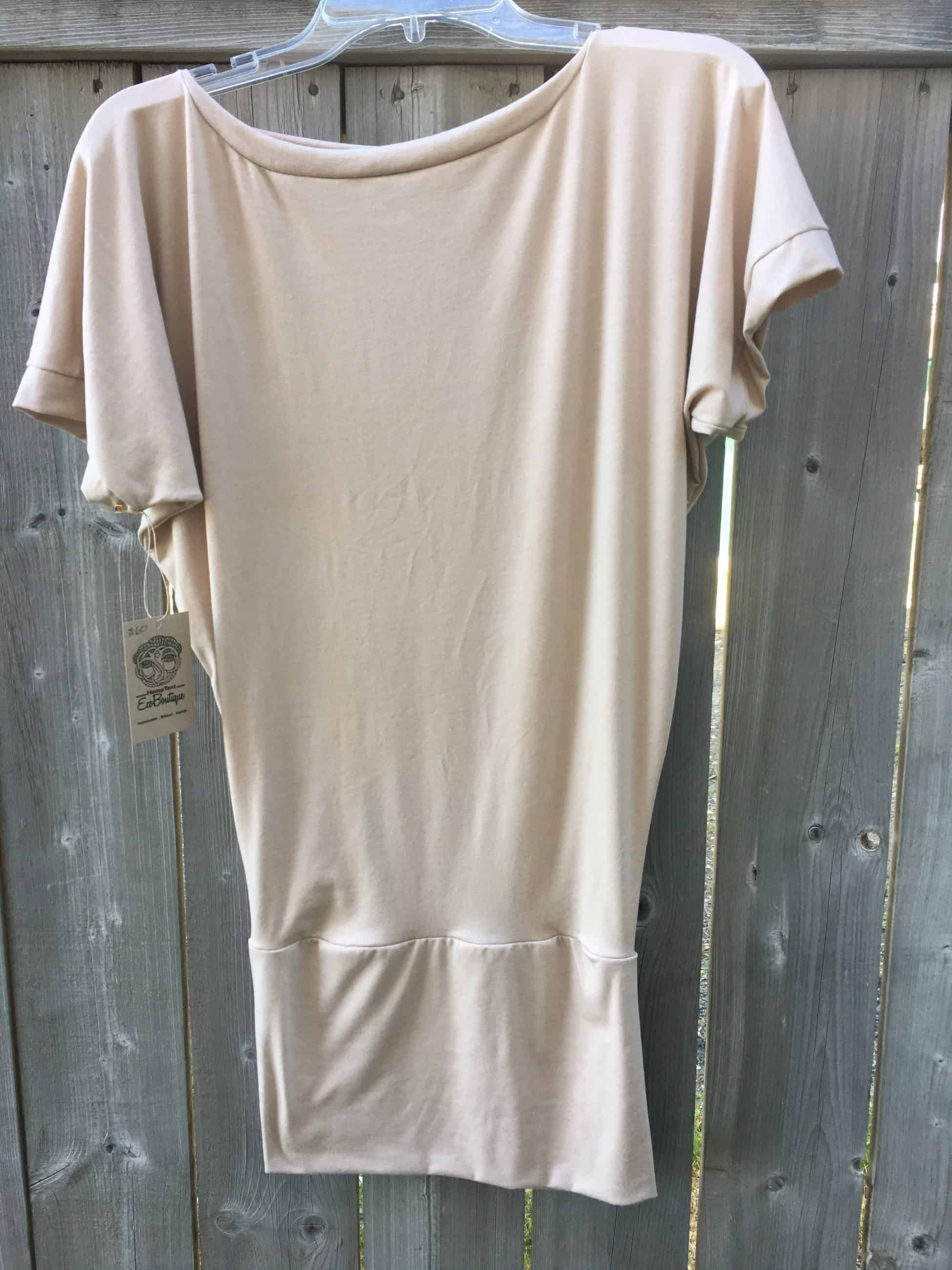 Boat neck shirt dress made in Canada
