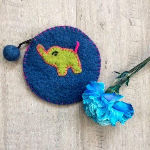 fair trade felt change purse