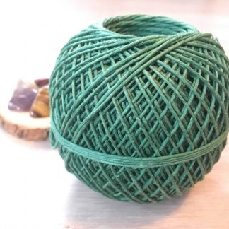green hemp craft twine