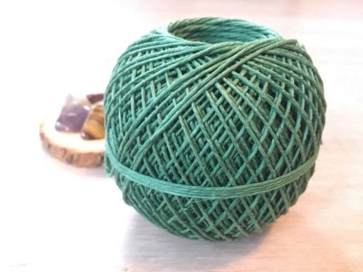 green hemp craft twine