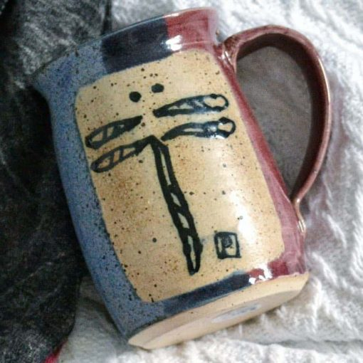 Parry Sound pottery coffee cup dragonfly mug