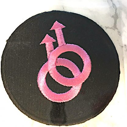 Embroidered Iron On Patch - Male/Male Circle