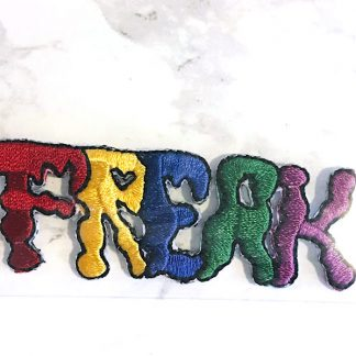 Embroidered Iron On Patch - Rainbow Freak