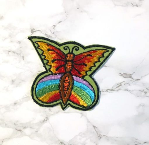 Embroidered Butterfly Patch Fair Trade Nepal 3-4inches
