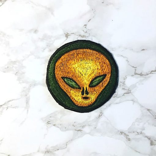 Embroidered Alien Patch Fair Trade Nepal 3-4inches