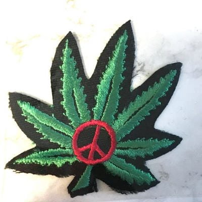 Peace Leaf Iron On Patch