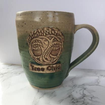 Brown Green Tree Coffee Cup