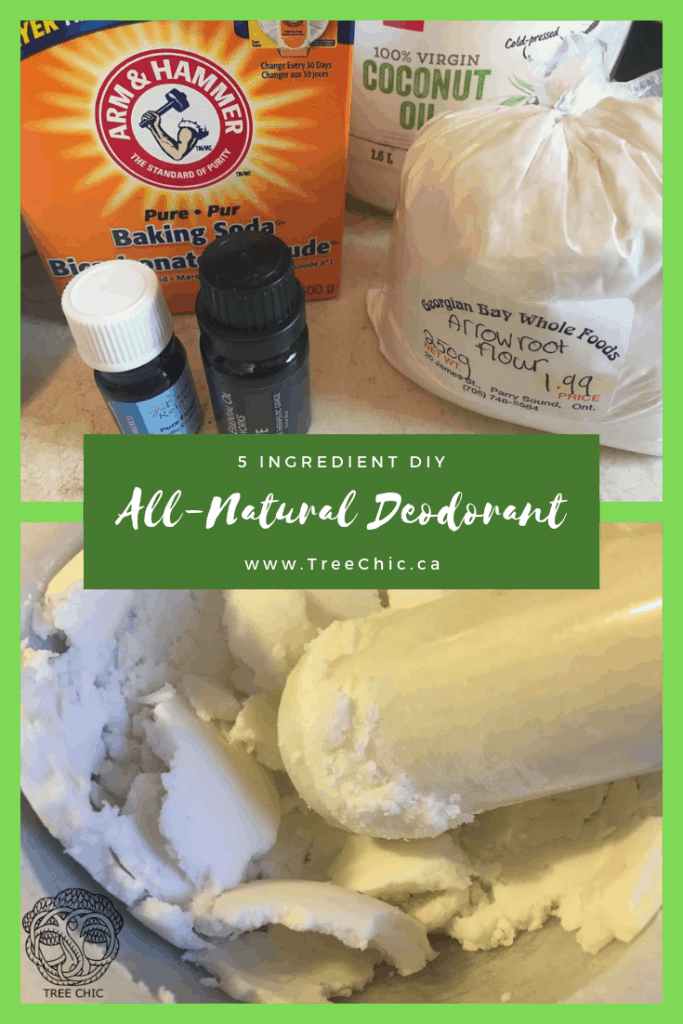 Natural Deodorant easy simple recipe DIY