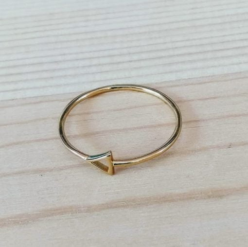 sterling silver gold triangle ring fair trade