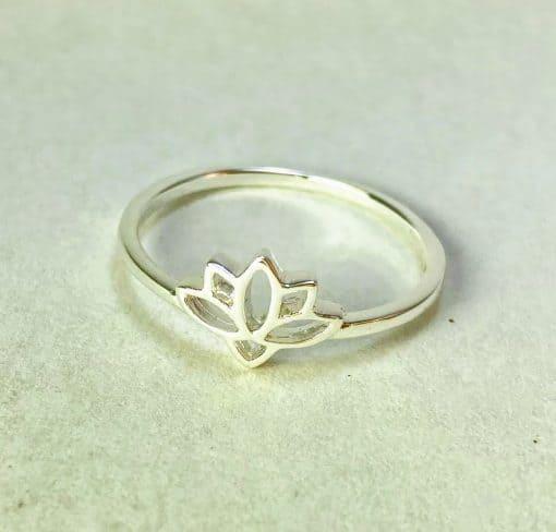 fair trade sterling silver ring - lotus