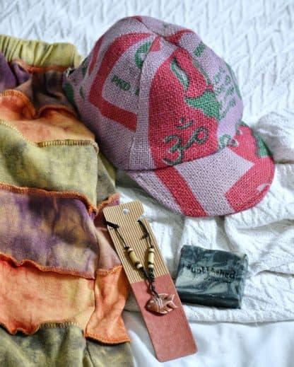 jute rice bag hat