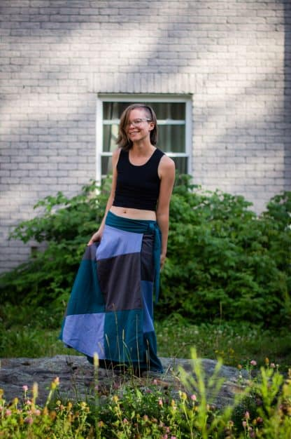 eco tencel wrap skirt