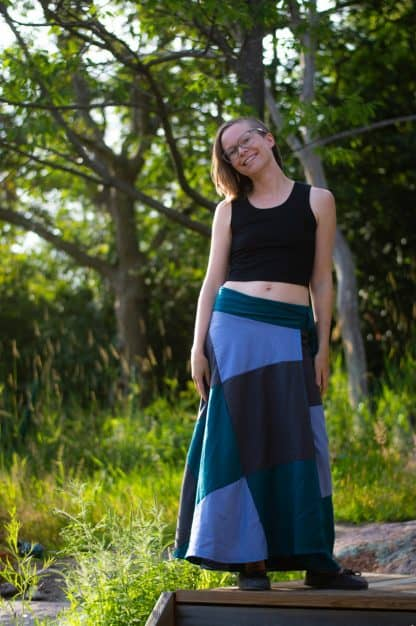 made in parry sound patchwork skirt