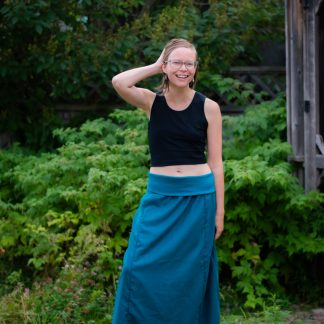 tencel maxi skirt canadian made