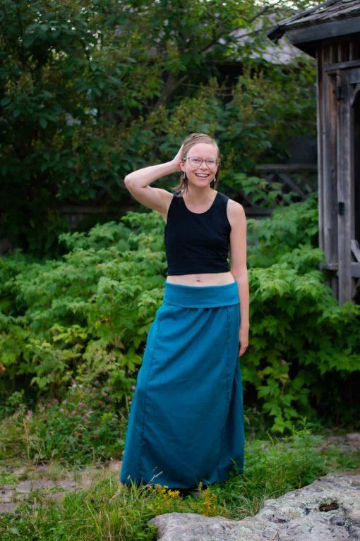tencel maxi skirt canadian made
