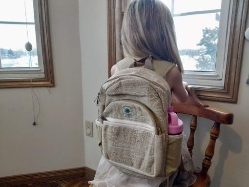kids hemp backpack