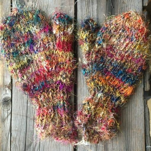 eco kids mittens recycled silk fair trade