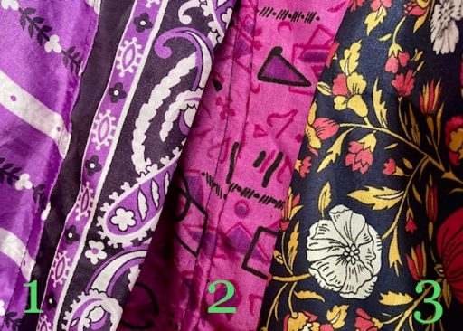 sari silk robe patterns